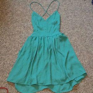 Teal mystic dress, size 2